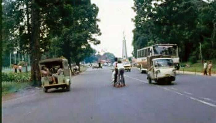Jalan Padjadjaran tahun 1986