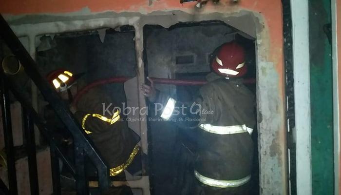 5 Rumah Terbakar Habis di Desa Pondokaso Kabupaten Sukabumi