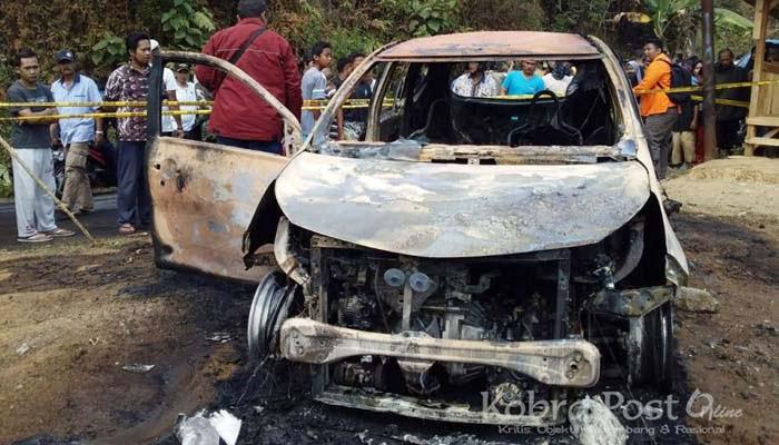 Mobil Terbakar, Dua Mayat Hangus di Sukabumi