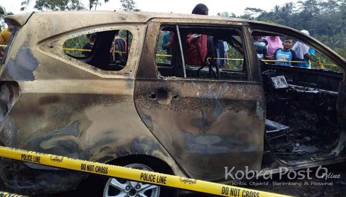 Mobil Terbakar di Sukabumi