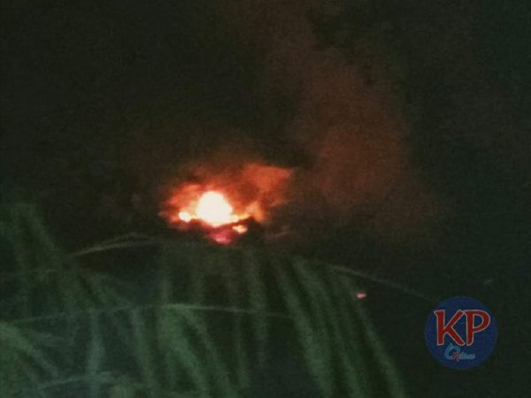 Tanah Kosong di Pondokaso Sukabumi Terbakar