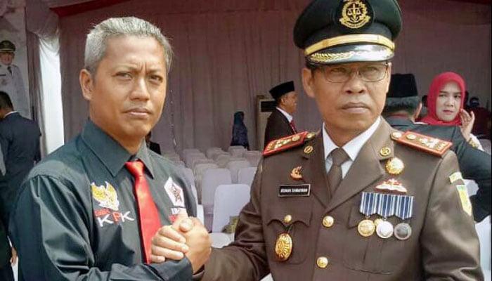 Ketua Lembaga Komunitas Pengawas Korupsi (LKPK) Kabupaten Bekasi, Anwar Soleh