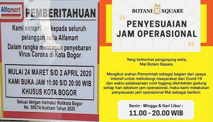 Pusat Perbelanjaan di Kota Bogor Batasi Jam Operasional